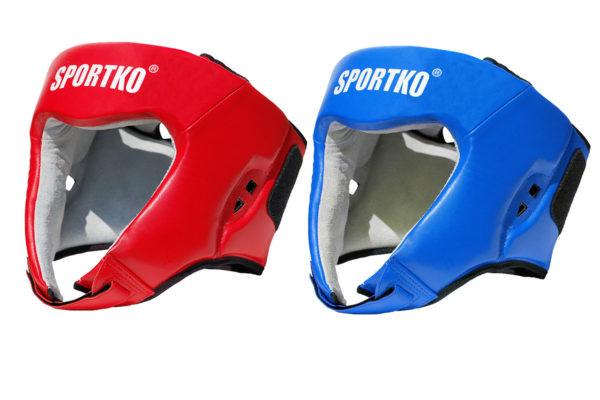 Шлем боксерский открытый ФБУ (натуральная кожа).