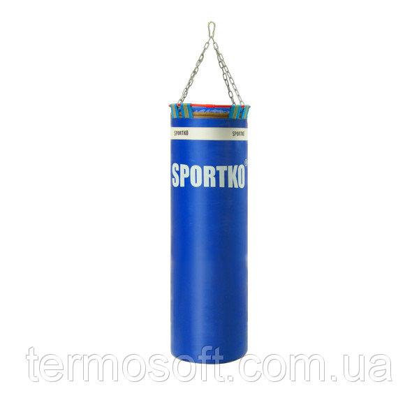 Боксерский мешок с цепями Sportko Элит (высота-110см, диаметр-35см, вес-40кг).