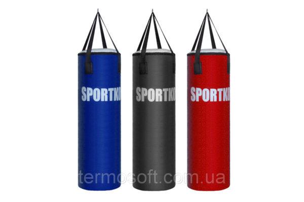Кожаный боксерский мешок Sportko Классик с кольцом (высота-85см, диаметр-32см, вес-28 - 30кг).