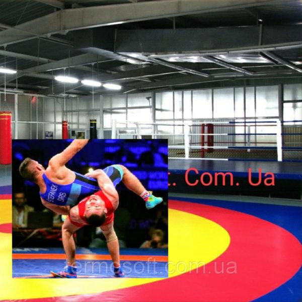 Ковер борцовский трехцветный 12м * 12м.