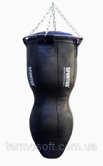 Боксерский мешок СИЛУЭТ кожа МСК - 110 с цепями. Высота 110см.Диаметр 45см. Вес 50кг.