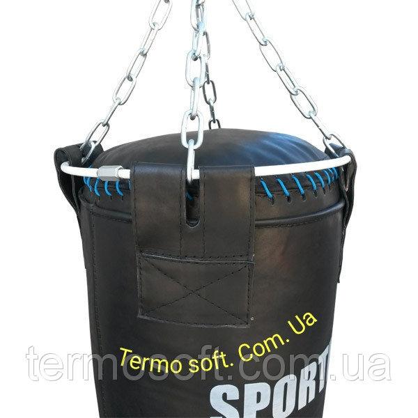 Боксерский мешок СИЛУЭТ. Двойной ПВХ МСП - 150 с цепями. Высота 150см.Диаметр 45см. Вес 65кг.