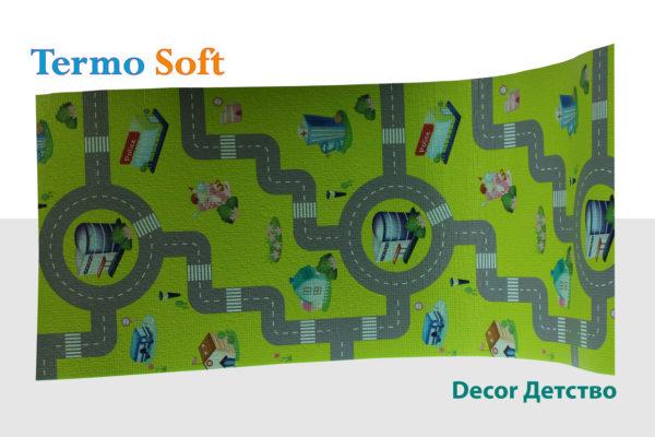 Детский игровой коврик с дорожной разметкой
