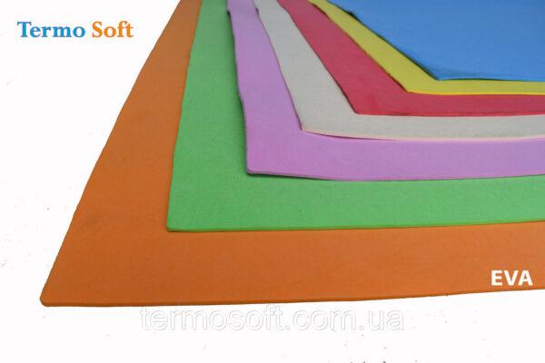 Фоамиран для цветов .Цветные листы EVA 3075 ( ЭВА, фоамиран, фоам) цветной, листовой 2мм.ЗЕЛЕНЫЙ
