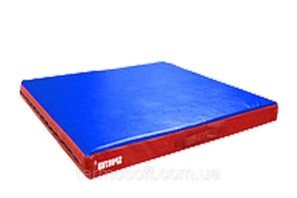 Спортивный мат для занятий борьбой и гимнастикой (кожвинил) 1м*1м*10см.