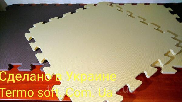 Коврики - пазлы в коричневых и бежевых тонах (Коврик-пазл 50*50*1см)