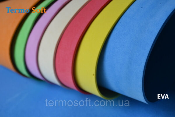 Фоамиран .Цветной Изолон , Цветные листы EVA 3075 ( ЭВА, фоамиран, фоам) цветной, листовой 2мм.ЖЕЛТЫЙ