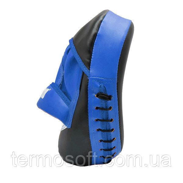Лапы для бокса синие, Яблоко (кожвинил)