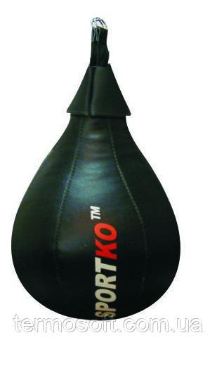 Кожаная боксерская груша каплевидная Sportko (вес 12кг )