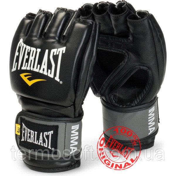 Перчатки тренировочные Everlast ММА Pro Style Grappling Gloves чёрный L/XL