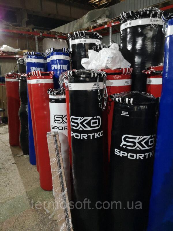 Мешок боксерский с цепями (высота-180см, диаметр-45см, вес-80кг).