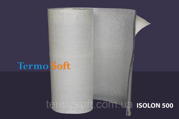 Обесшумка с фольгой и клеем. Вспененный полиэтилен Изолонтейп 3004 фольгированный -4мм