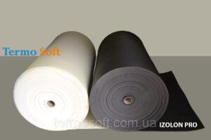 Материал для шумо и теплоизоляции. Вспененный полиэтилен, IZOLON PRO 3010;полотно-10мм